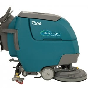 Tennant T300 floor scrubber dryer. Call us for a site survey and an on site demonstration