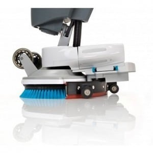 The i-mop floor scrubber dryer has a 22 kg brush pressure
